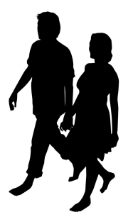 Couple in Love Walking Together