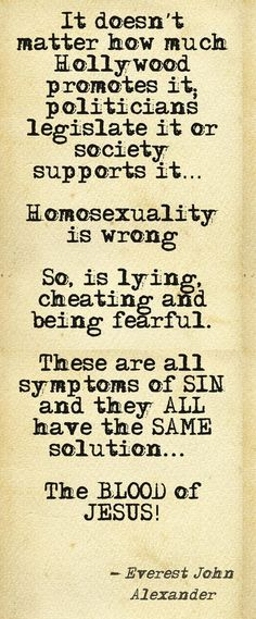 Homosexuality is Wrong