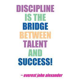 Discipline is...