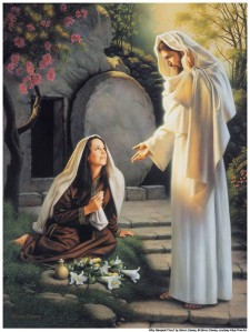 Mary and Jesus in the Garden After His Resurrection