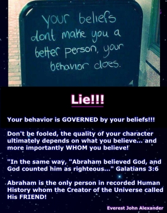 "Does Your Behavior OR Your Belief Make You a ""Good Person""?"