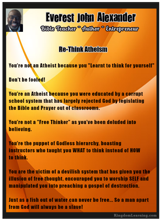 Time to Re-Think Atheism