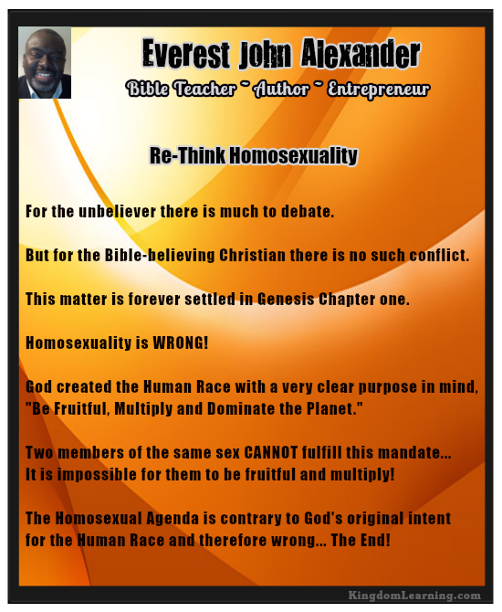 Re-Think Homosexualit