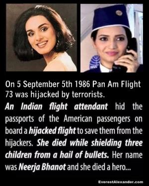 Neerja Bhanot: The Heroine of Hijacked Pan Am Flight 73