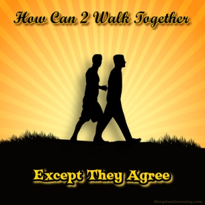How can 2 walk together except they agree