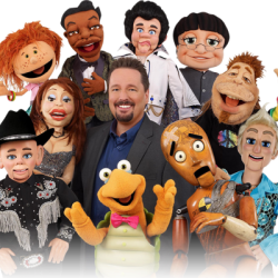 Terry Fator, Ventriloquist, with Puppets.